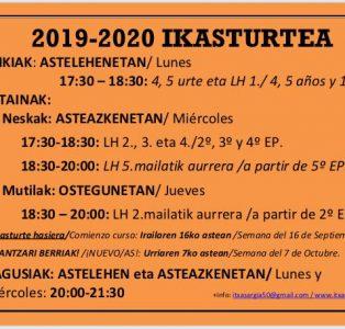 2019-2020 IKASTURTEA